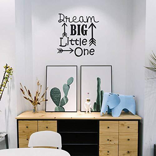 QTBHTZ Wandaufkleber Kunst Wandtattoos Traum große kleine eine Wand Kunst Zitat Aufkleber Wandbild Kinderzimmer rustikale Pfeil Wald Kinderzimmer Schlafzimmer Dekor -