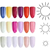 NICOLE DIARY 6 Colors Photochromic Pigment Dust UV Light Sunlight Changing Pigment Color Changing Nail Glitter Decorations