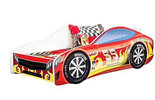 Nobiko Autobett Kinderbett Bett Schlafzimmer Kindermöbel Spielbett 180x80 cm bis 12 Jahre Matratze Lattenrost (ECOLOGO- und GREENGUARD GOLD Zertifikat) (14)