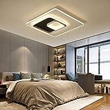Lámpara de Techo Moderna Minimalista araña dimming Control Remoto LED Rectangular para Sala de Estar Cocina Dormitorio Cuarto de baño,dimming,400x400mm
