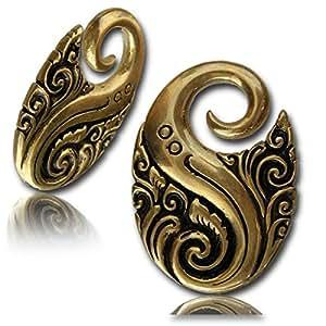 Orné d'oreille en laiton Poids 4 mm bijoux piercing Lobe bijoux tendue (code 9)