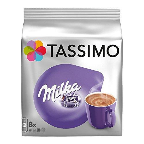 Tassimo T-Discs Milka (16T-Discs) Heiße-Schokolade-Getränk mit Kaffeesahne aus Milch-8Portionen x 2Packungen