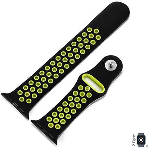 APPLE Watch Pulsera Sport para Series 1con 42mm y para Series 2con 38mm de silicona plástico/Goma para Apple iWatch Reloj de pulsera y Apple Watch Nike + Repuesto de
