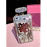 Sasa(TM) IPhone X Case , IPhone 10 Case,3D Handmade Luxury Elegant Bling Diamond Crystal Lovely Flower Cute Pearl Chain Handbag Case Cover For IPhone X / IPhone 10 (2017 Release)
