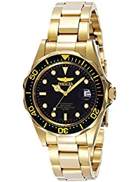 Invicta Pro Diver Unisex Analogue Classic Quartz Watch with Stainless Steel Gold Plated Bracelet – 8936