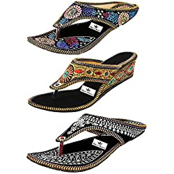 Thari Choice Women's Combo Of 3 Fashion Sandal (Ind/Uk-8 (Eu-41))