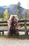 Felltrade Merino Schaffell Lammfell groß 130-140 cm geflammt ökologische Gerbung