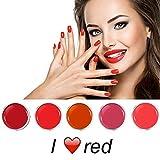 I Love Red Farbgel Set 5 x 5 ml
