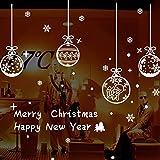 Pegatinas de Navidad, navidad decoracion Navidad Copo de Nieve, pegatinas de pared calcomanías de ventanas Escaparate, Tienda, Oficina ( 2 hojas X 30 *45cm ) (Blanco)