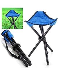 CTKcom Portable Folding Tripod Stool,Camping Folding Stool,Foldable Tripod Camp Chair Lightweight For Camping...