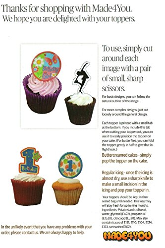 51MS7B9riQL - 5º cumpleaños Superhero Cupcakes Comestible stand-up barquillo - Decoración para tartas, Pack of 36