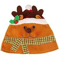 BESTOYARD Sombreros de Navidad con Adornos de Tocado de Fiesta de Alce para niños Adultos