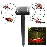 LussoLiv RC-507 Solar Power Portable Rat Mice Rodent Mole Pest Repellent Sonic Garden Wave Repeller