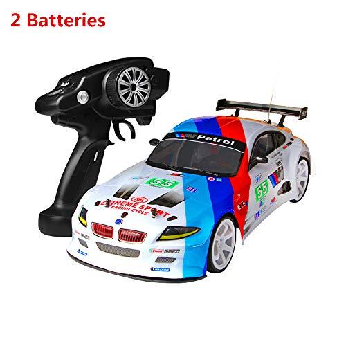 Sunnywill 1:10 70 km/h rc car 4wd doppia batteria ad alta potenza led faro da strada camion (a)