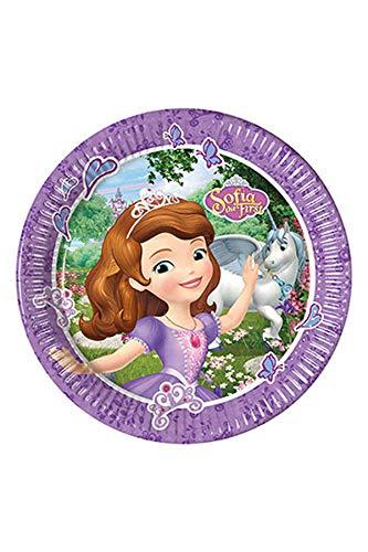Disney 53873Sofia die Erste Party Dekoration Teller Papier groß 23cm 8ct