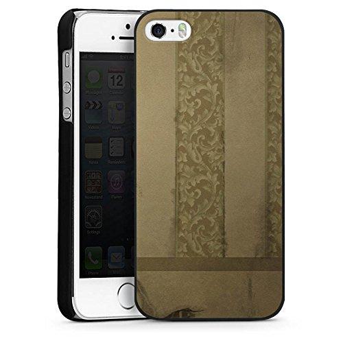 Apple iPhone 4 Housse Étui Silicone Coque Protection Ornements Motif Motif CasDur noir