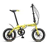 Klappräder Faltrad 16 Zoll Shift Fahrrad Leichte Erwachsene Männer Und Frauen Faltrad Doppelscheibenbremse Faltrad