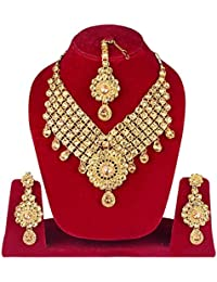 Baal Gold Plated Necklace Sets For Women, Gift For Her On Special Occasion, Golden, 250 Grams, Pack Of 1