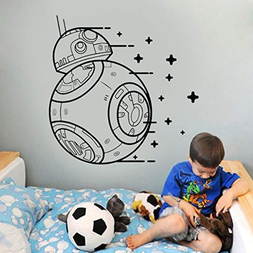 (Wiwhy Wall Vinyl Stickedie Kraft Weckt Vinyl Droid Decal Kinderzimmer Stencil Cool Geschenk Foboy 57X57Cm)
