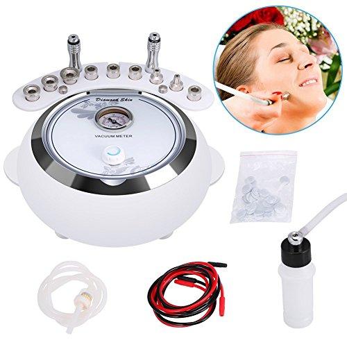 3 in 1 Professionelle Diamant Microdermabrasion Vakuum Dermabrasion Maschine Hautverjüngung Gesichts Schönheit Maschine Massage Gesichtspflege Salon Ausrüstung für Persönliche Heimgebrauch(EU) - Microdermabrasion Maschine