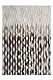 One Couture Leder HANDGEFERTIGT TEPPICHE KUHFELL Patchwork Teppich WEICH GRAU, Größe:80cm x 150cm