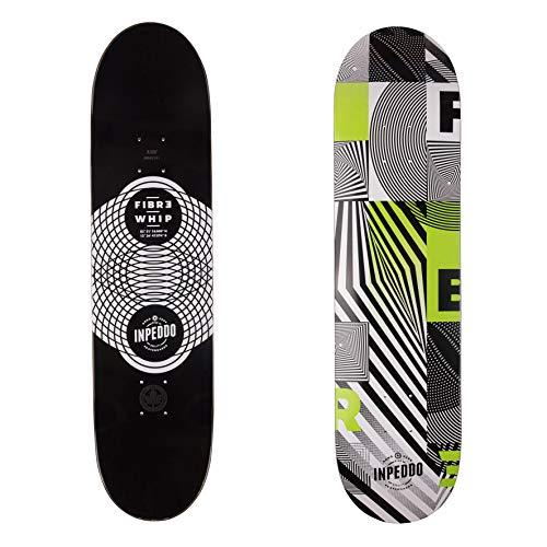 "Inpeddo Skateboard Deck Fiber Whip Green 8.125\"""