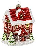 Inge-Glas Christbaumschmuck Weihnachtskugeln Figuren (Weihnachtliches Haus 11.5cm)