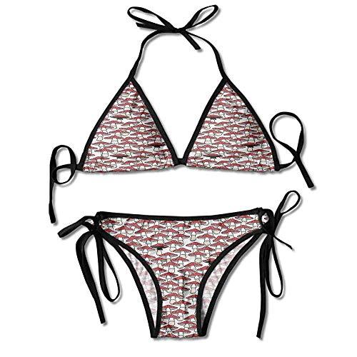 Sexy Bikinis Bra Sets,Growth Nature Forest Pattern Sexy Bikini 2 Pieces