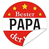 Aufkleber Bester Papa ❤️ 9,5 cm gross ❤️ rund ❤️ inkl.