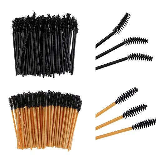D Dolity 200 Applicateurs Baguettes Jetable à Mascara à Cils pour Maquillage