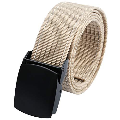KYEYGWO Verstellbarer Gürtel aus Nylon für Sportler, Militärisch, Taktischer Gürtel, atmungsaktiv, mit Schnalle, Klappe, Legierung, für Damen und Herren, 48 Zoll Gr. Einheitsgröße, kaki