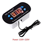 Jenor W1308 Digitaler Thermostat-Alarm-Regler, AC 110 V-220 V C/F
