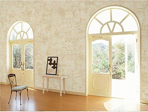 Non-Woven industrielle Wind Tapete Uni Farbe American ländlichen Nachahmung Stoff Wohnzimmer Schlafzimmer Hintergrund Wand Papier kaufen drei bekommen eine ( Color : Light yellow )