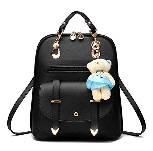 5390ea701fcaa Keshi Pu Niedlich Damen accessories hohe Qualität Einfache Tasche  Schultertasche Freizeitrucksack Tasche Rucksäcke Schwarz