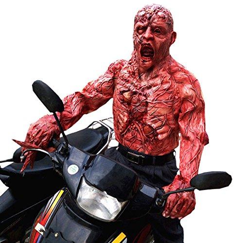 Nihiug Halloween Spukhaus Wirkliche Menschen Furcht Erregenden Masken Tragbar Horror Mützen Kleider Zombie Mama Tricky Requisiten Hässliche Maske Halloween,A