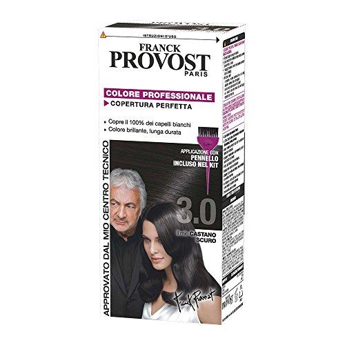 Franck Provost Colorazione Permanente Capelli, Tinta Copertura Ottima, Colore Professionale, 3.0 Castano Scuro