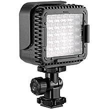 Foco Neewer® modelo CN-LUX360 intensidad de luzde 5600K, con 36LED regulables. Iluminación para cámara de vídeo con filtro óptico para videocámara DV Canon, Nikon, Olympus, Pentax, cámaras DSLR y otras, con zapata de flash universal