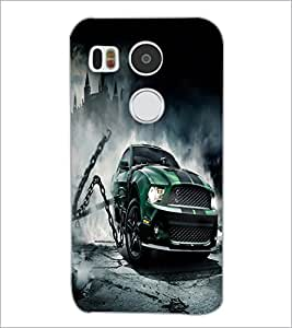 PrintDhaba Car D-2139 Back Case Cover for LG NEXUS 5X (Multi-Coloured)