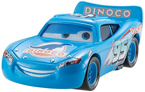 Disney Pixar CARS 2 Movie 1:55 Die Cast Car Dinoco Lightning McQueen (Dinoco Series, # 1 of 8) - Véhicule Miniature - Voiture