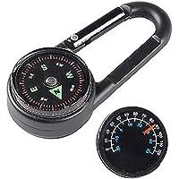 Kompass Schl/üsselanh/änger Mini-/überlebens-kompass Reifen Keychain Taschen-Uhr-Art-kompass-schl/üsselring F/ür Outdoor-Abenteuer Camping Klettern Radfahren Wandern