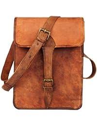 """IHandikart 13"""" Leather Shoulder Messenger Bag /IPad Bag / Notepad Bag For Boys & Girls"""