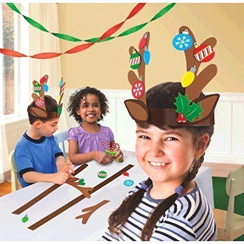 t Kit- Makes 4 Reindeer Headbands by Amscan ()