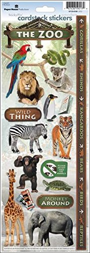 Paper House Productions Karton-Aufkleber Zoo One Size Mehrfarbig -