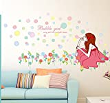 YUANLINGWEI Cartoon Dusche Zimmer Wall Sticker Badezimmer Fliesen Glas Tür Aufkleber Wasserfest Selbstklebend Fenster Blumenaufkleber C 50 × 70 Cm