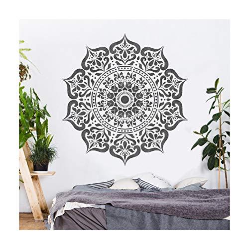 MANALI Mandala Wand Möbel Fußboden Schablone für Malerei - 25cm
