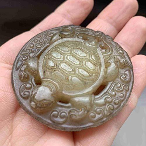 ZHIBO Alte Jade antike Jade Tier schildkröte Jade handstück kleine Verzierungen
