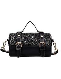 58aaa44920950 Womens Soft Leder Handtaschen Grosser Kapazität Retro Vintage Top-Griff  Lässige Shopper Taschen(21   11  …