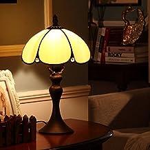 Lámpara de Tiffany estilo/ estilo Europeo moda dormitorio simple lámpara de cabecera/Pastoral caliente retro sobremesa-B