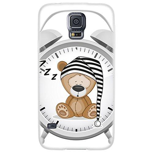 OOH!COLOR 025618_aca014 Tier mit Muster weiche Silikon TPU Bumper-Hülle für Samsung Galaxy S5 G900F klar OKI001