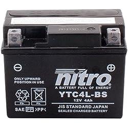 NITRO YTC4L-BS -N- Batterie Moto AGM Fermé